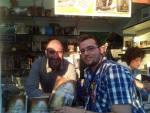 Con el autor de De Madrid al zielo, Alfonso Zamora.