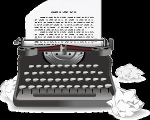 Hace falta más que una máquina para escribir una novela