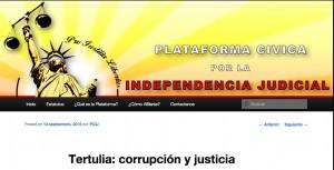 Conferencia justicia y corrupcion